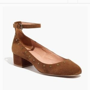 Madewell suede brown shoes